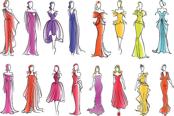 patrones vestidos antiguos