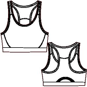 patrones de ropa deportiva para dama