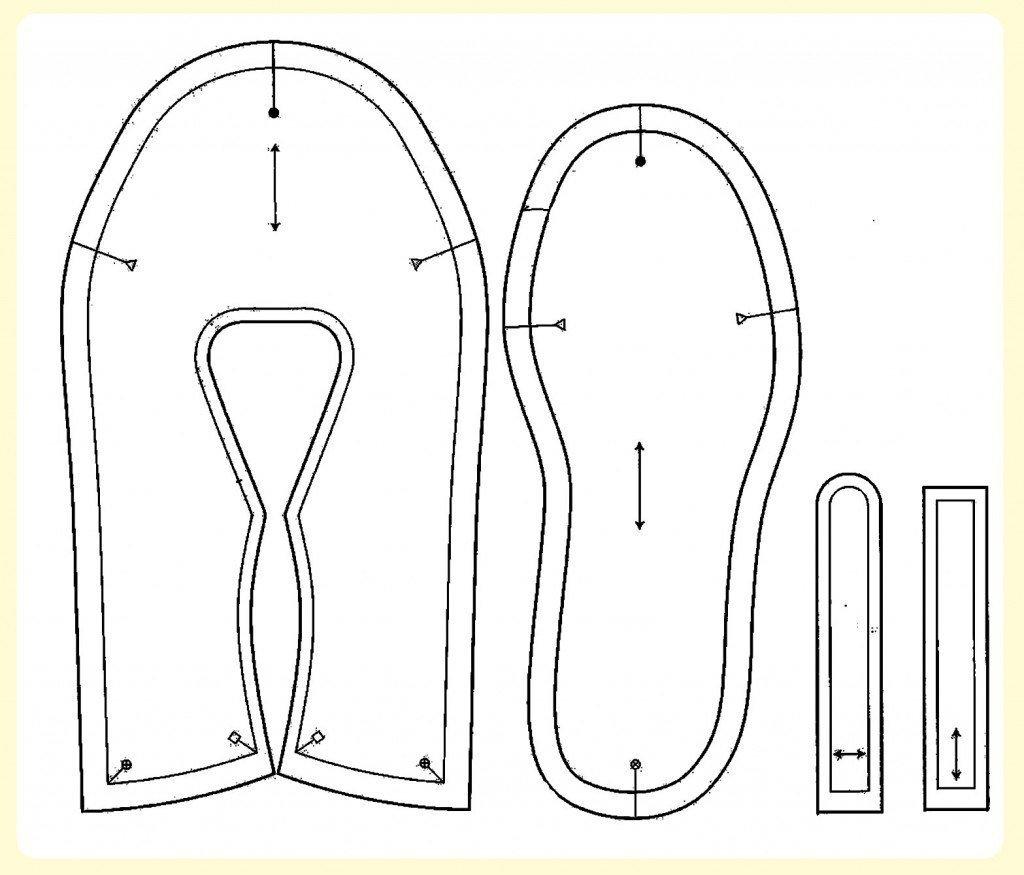 patrones zapatillas de muñecas grandes