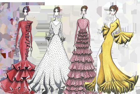 patrones flamenca online