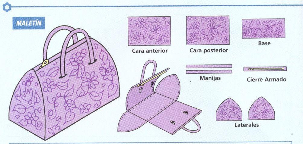 patrones para hacer monederos de tela con boquilla